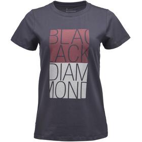Black Diamond Block SS Tee Women carbon